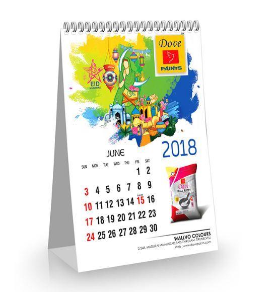 Dove Paints Calendar